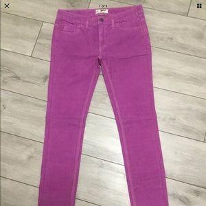 Free People Purple corduroy skinny pants